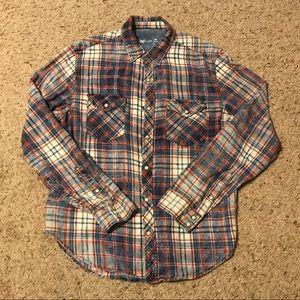 Pearl Snap Gap Flannel Shirt